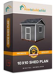 10x10 shed plan