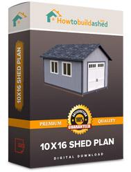 10x16 shed plan