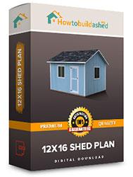 12x16 shed plan