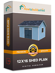 12x16 shed plan with double door