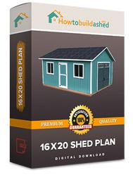 16x20 shed plan