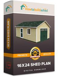 16x24 shed plan