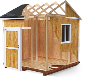 shed plans 30 Free Storage Shed Plans With Gable  Lean to and Hip Roof Styles