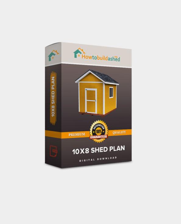 10X8 Gable Storage Shed Plan