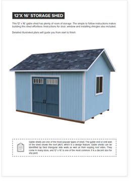detailed 12x16 shed plan 3d