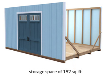 12x16 shed storage space