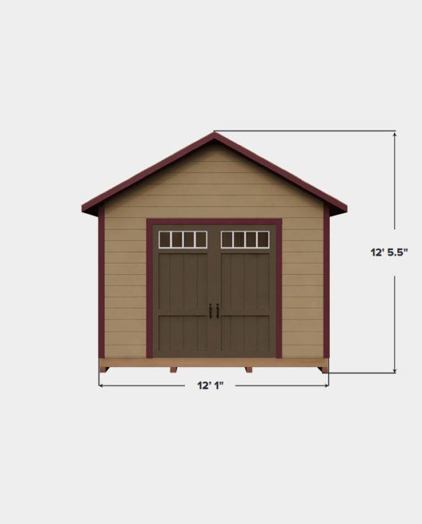 cheap 12x12 storage shed plan