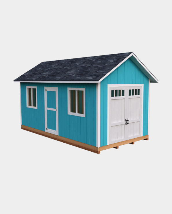 10x20 Gable Storage Shed Plan Howtobuildashed Org