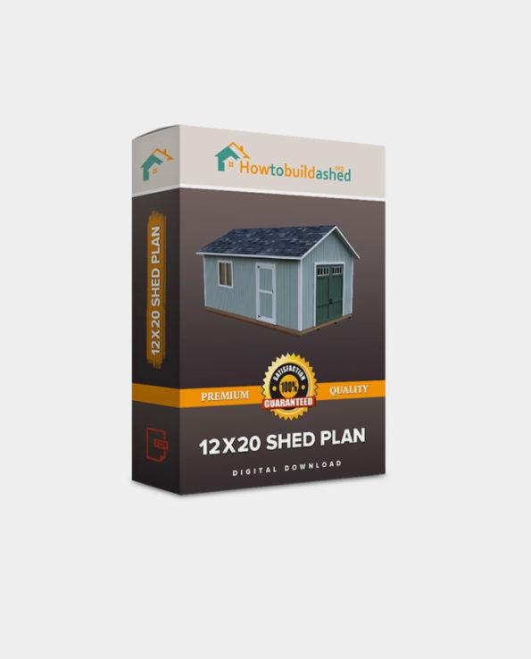 12X20 Gable Storage Shed Plan