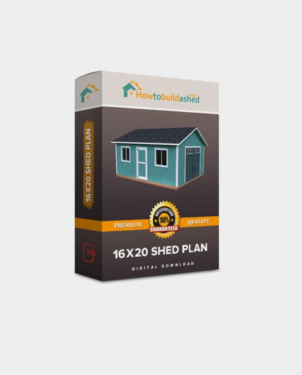 16X20 Gable Storage Shed Plan