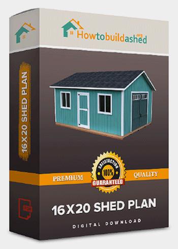 16x20 Gable Storage Shed Plan Howtobuildashed Org