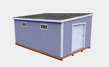 12X18 Lean To Storage Shed Plan