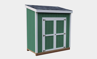4X8 Lean-To Storage Shed Plan & 30 Free Storage Shed Plans With Gable Lean-to and Hip Roof Styles