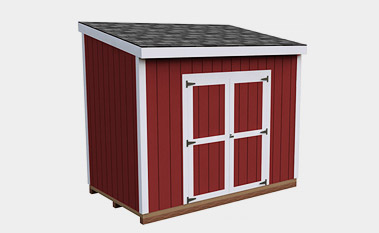 6X10 Lean To Storage Shed Plan