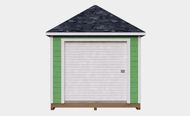 10X12 Hip Roof Storage Shed Plan