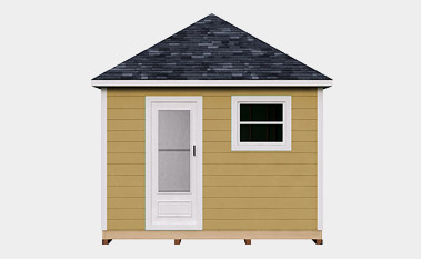 12X20 Hip Roof Storage Shed Plan & 30 Free Storage Shed Plans With Gable Lean-to and Hip Roof Styles