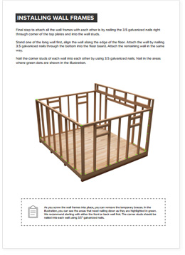 12x14 Lean-To shed plan visual