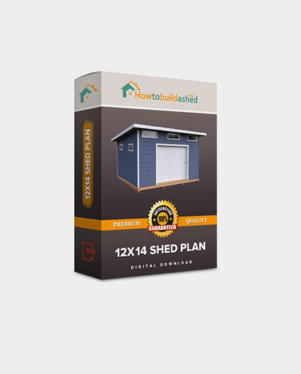 12X14 Lean To Storage Shed Plan
