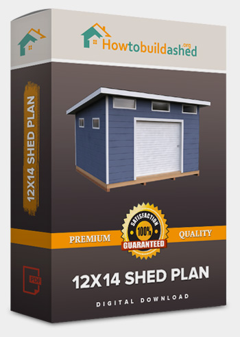 12x14 Lean-To shed plan product box