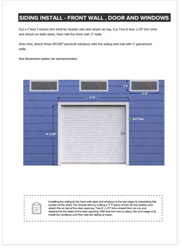 12x14 Lean-To shed plan step by step instructions