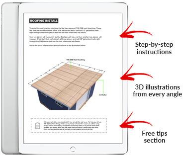 12x14 Lean-To shed plan pdf