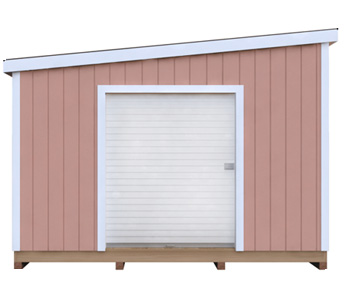 12x18 Lean-To DIY shed