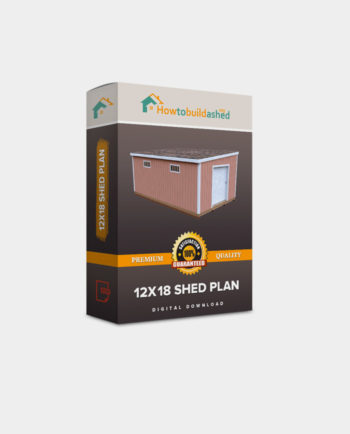 12x18 Lean-To shed plan product box