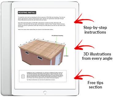 12x18 Lean-To shed plan pdf