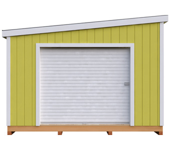 12x24 Lean-To DIY shed