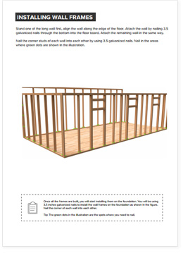 12x24 Lean-To shed plan visual