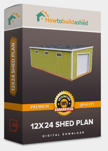 12x24 Lean-To shed plan product box