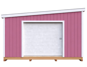 14x14 Lean-To DIY shed