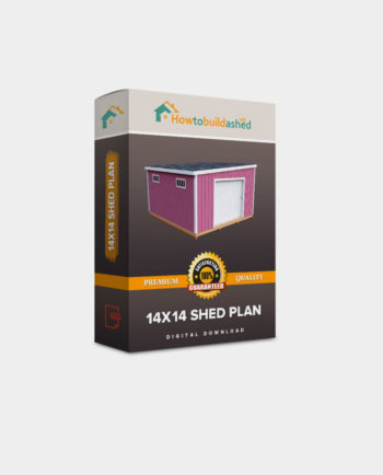 14x14 Lean-To shed plan product box