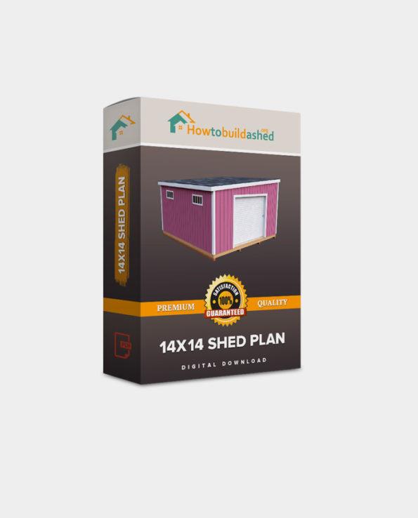 14X14 Lean To Storage Shed Plan