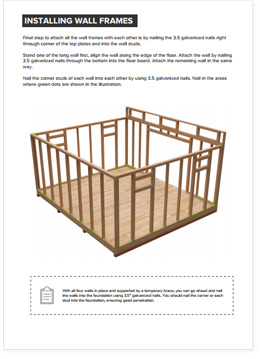 14x16 Lean-To shed plan visual