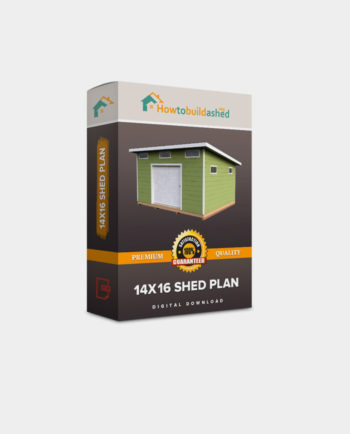 14x16 Lean-To shed plan product box
