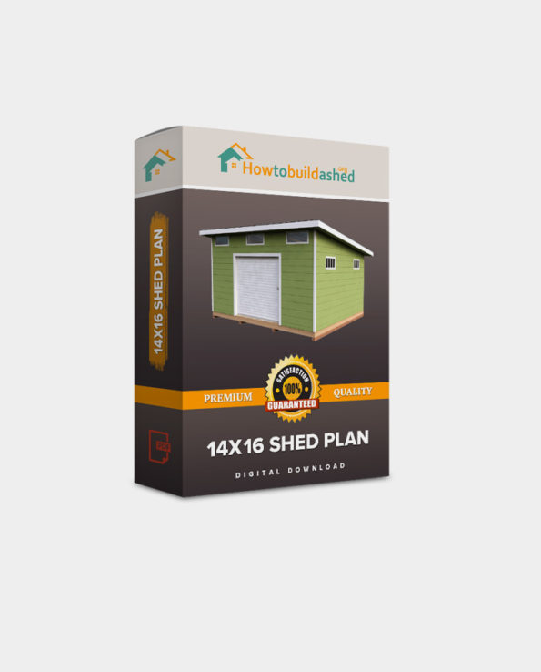14X16 Lean To Storage Shed Plan