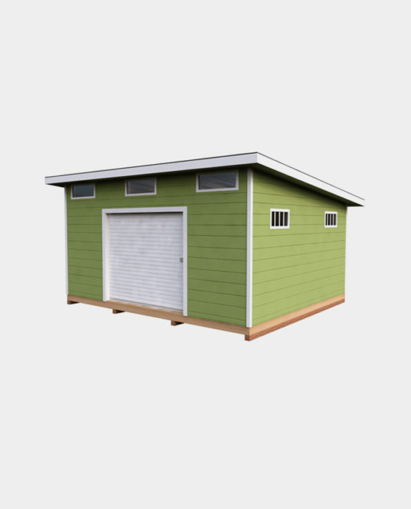 14x16 Lean-To DIY shed 3D
