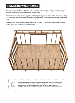 14x20 Lean-To shed plan visual