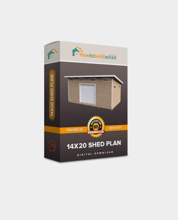 14X20 Lean To Storage Shed Plan
