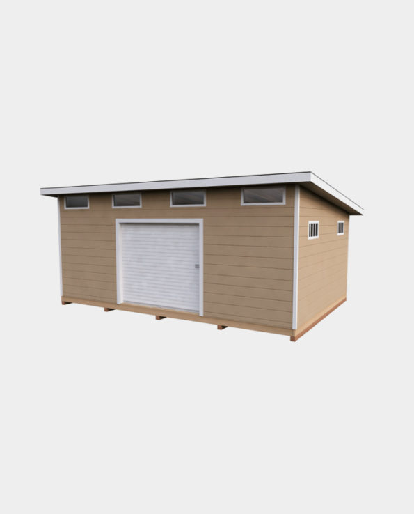 14x20 Lean-To DIY shed 3D