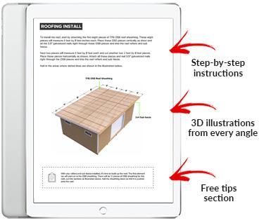14x20 Lean-To shed plan pdf