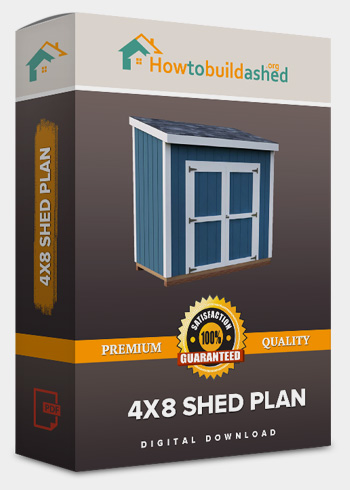 4x8 Lean-To shed plan product box