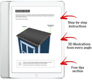 4x8 Lean-To shed plan pdf