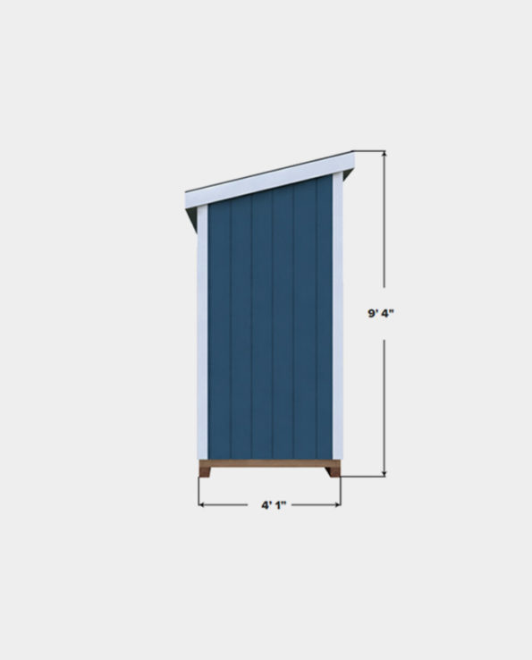 4x8 lean to shed plan side view
