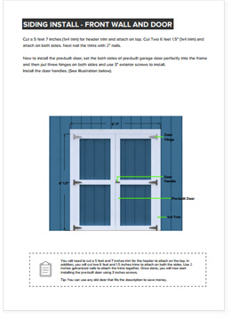 4x8 Lean-To shed plan step by step instructions