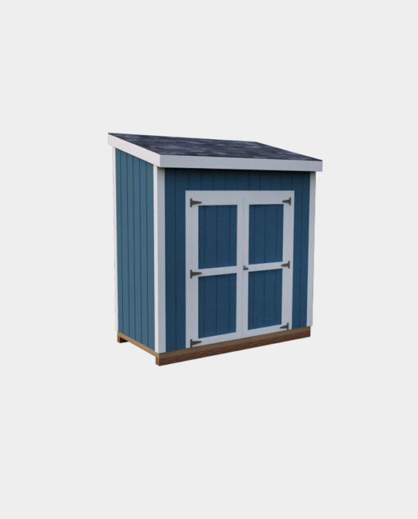 4x8 Lean-To DIY shed 3D