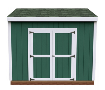 6x10 Lean-To DIY shed