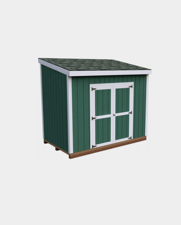 6x10 Lean-To DIY shed 3D