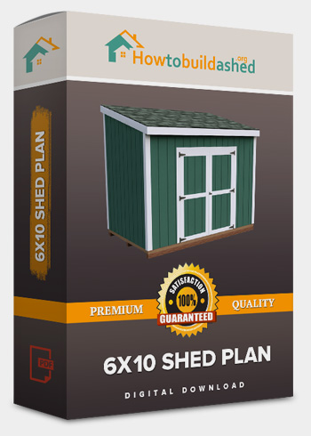 6x10 Lean-To shed plan product box